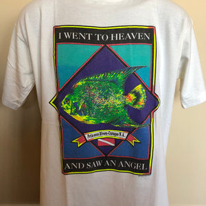 80s Curacao Divers Shirt Angel Fish Large